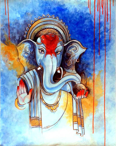 Lord  Ganapati Contemporary Ganesha Painting