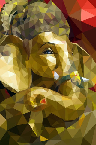 Lord Ganesha Contemporary Digital Painting