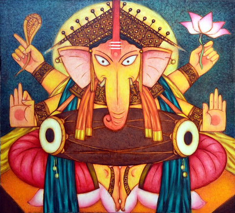 Lord Ganesha Contemporary Ganapati Painting
