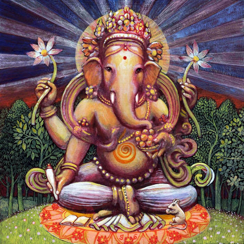 Lord Ganesha Peaceful Painting