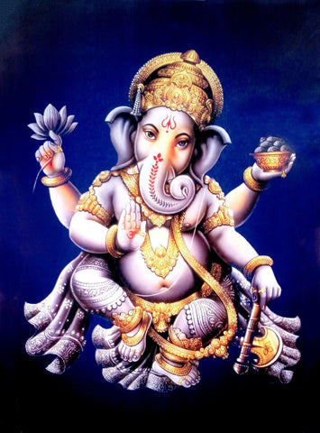Lord Ganpati Blessing - Traditional Indian Ganesha Painting
