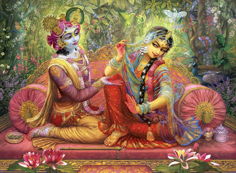 Lord Krishna and Radha