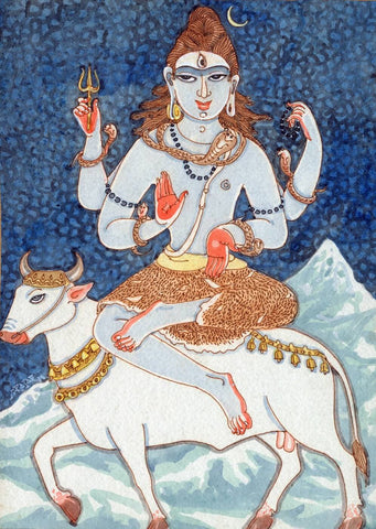 Lord Shiva On Nandi - S Rajam by S. Rajam
