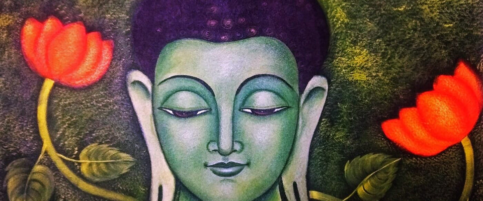 Acrylic Painting - Lotus Buddha by James Britto | Buy Posters, Frames, Canvas  & Digital Art Prints