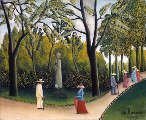 Luxembourg Gardens Monument to Chopin - Henri Rousseau