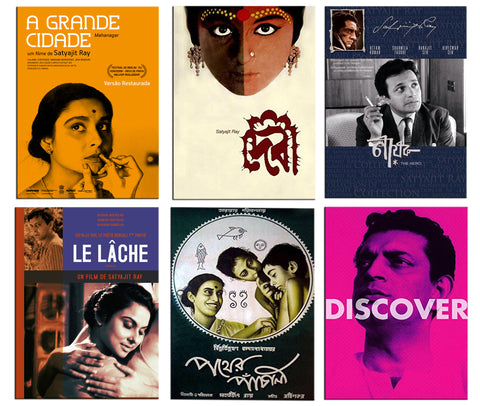 Satyajit Ray - Set of 6 Portraits Fridge Magnets