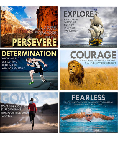 Motivational - Set of 6 Portraits Fridge Magnets
