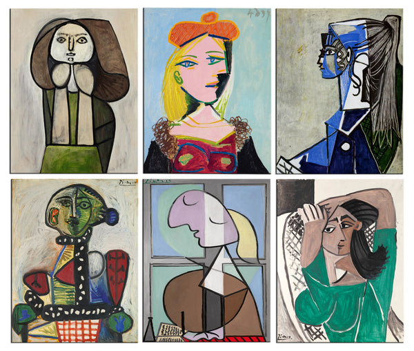 Fridge Magnets of Pablo Picasso - Set of 6 Portraits Fridge Magnets by Pablo Picasso