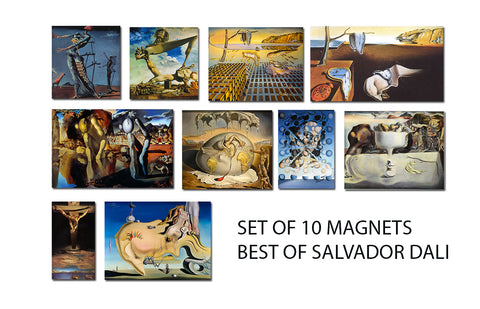 Salvador Dali - Set of 10 Best of Dali Fridge Magnets
