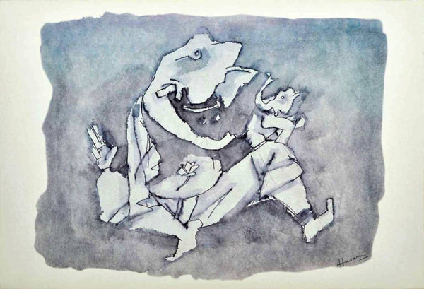 Artwork Prints of (Ashtavinayak Series - VI) - Art Prints by M F Husain