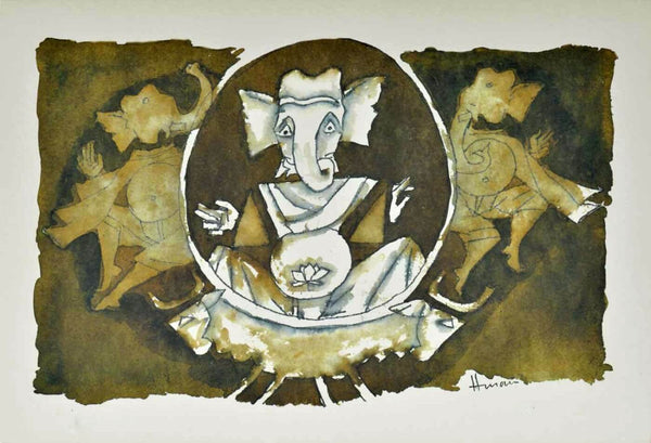 Canvas Prints of (Ashtavinayak Series - V) - Canvas Prints by M F Husain