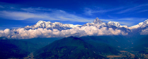 Macchapuchare Mountains in Pokhara Nepal
