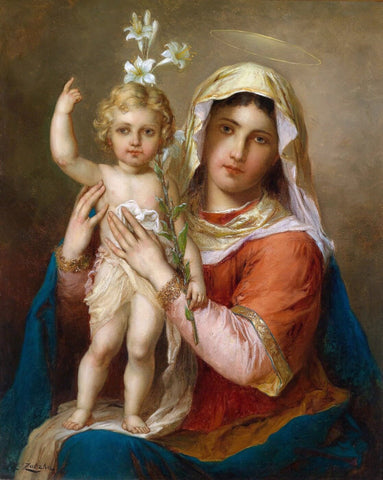 Madonna With Child (Madonna mit Kind) - Hans Zatzka