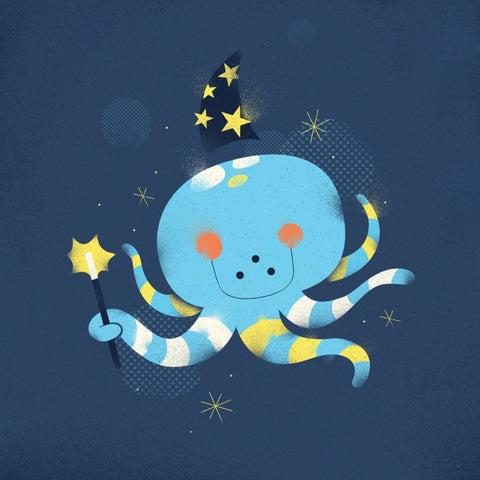 Magic Octopus - Canvas Prints