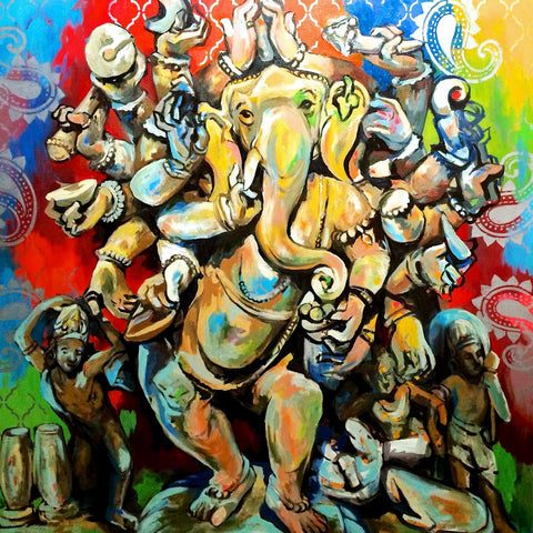 Mahaganpati Vinayak - Ganesha Painting Collection by Raghuraman