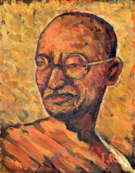 Mahatma Gandhi - Jamini Roy - Canvas Prints
