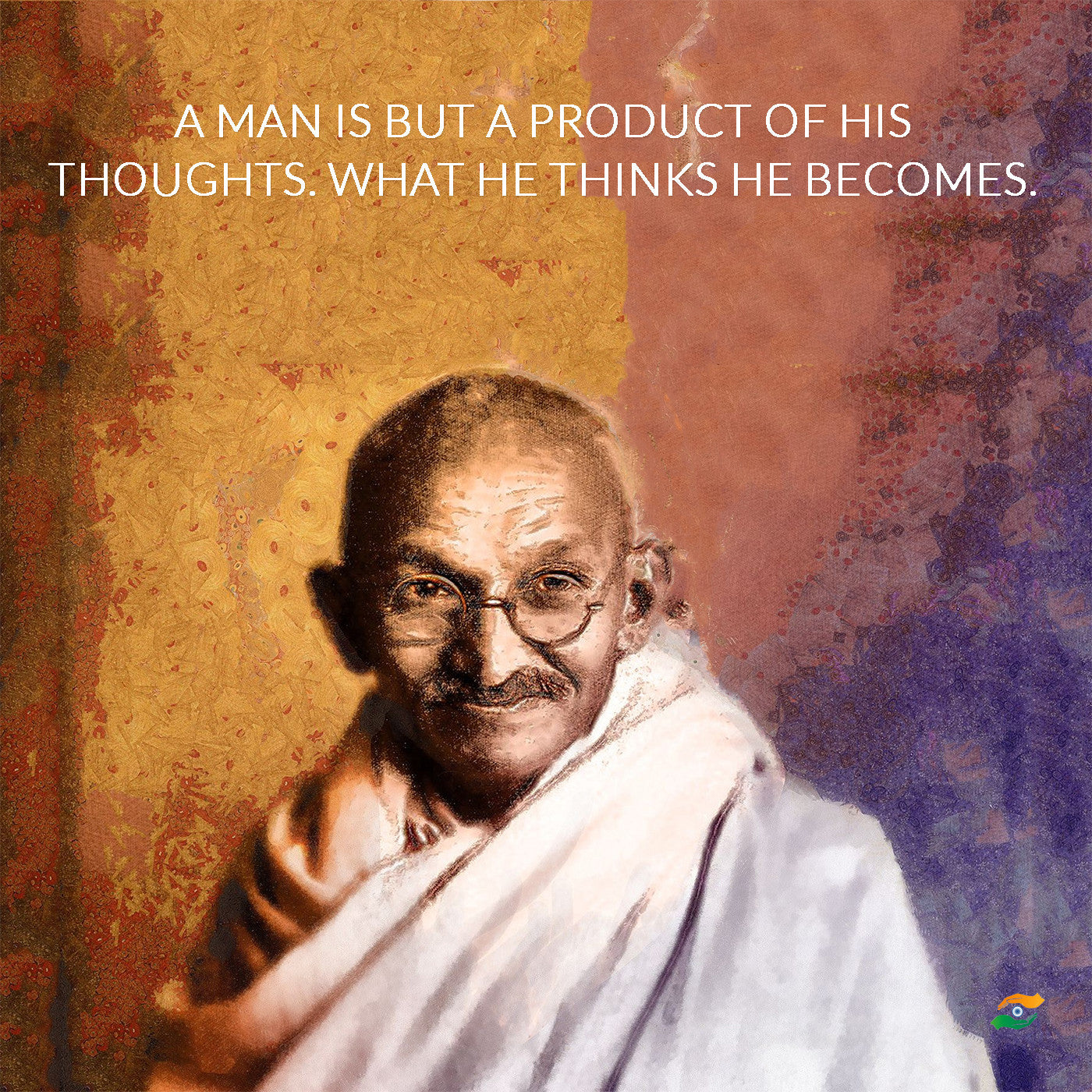 Photo Hindi Sales Quote: Set Of 3 Mahatma Gandhi Quotes In English With Colored