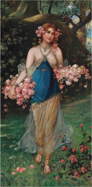 Artwork of Maidens Of Spring - II by Hans Zatzka