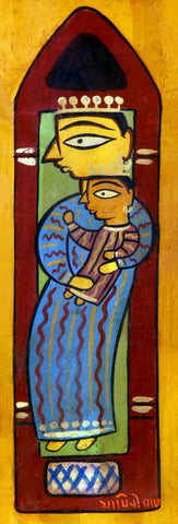 Man and Child by Jamini Roy