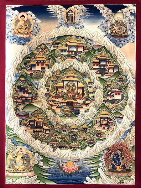 Mandala Kingdom of Shambhala - Buddha Collection - Framed Prints