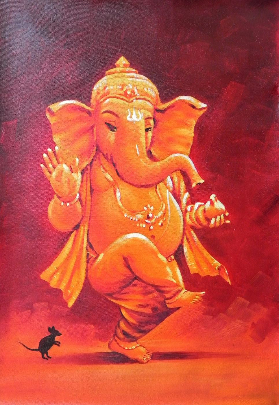 Ganesha Paintings — Above 5000 | Buy Posters, Frames, Canvas, Digital Art & Large Size Prints