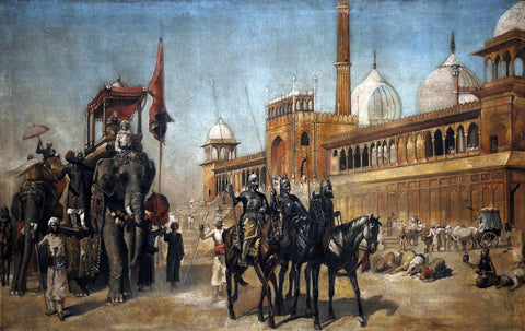 Manner of Great Mogul and his Court returning from the great Mosque at Delhi - Edwin Lord Weeks by Edwin Lord Weeks