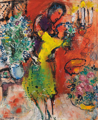 A Couple at the Candelabra (Couple au chandelier) - Marc Chagall