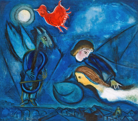 Aleko and his wife Zemphira from an Old Russian Tale - Marc Chagall