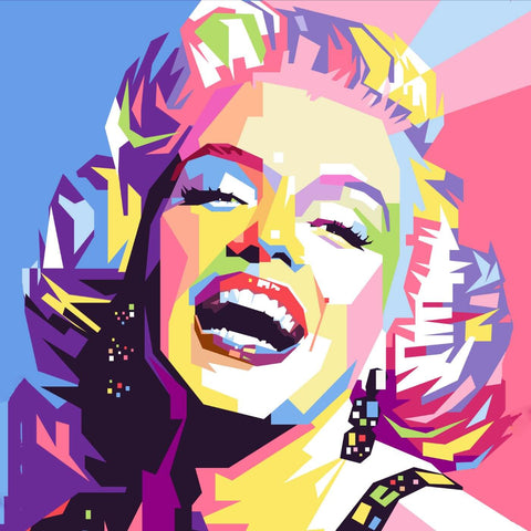 Marilyn Monroe - Pop Art Painting Square