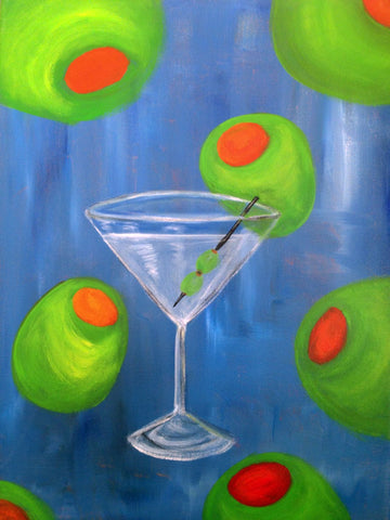 Martini With Olives by Deepak Tomar