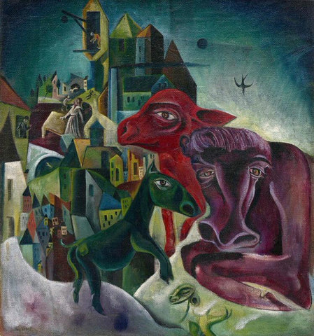 City With Animals - Posters by Max Ernst