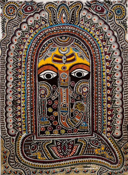 Mithila Art - Ganesha - Framed Prints