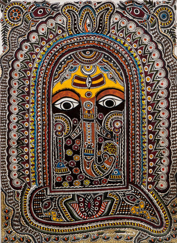 Mithila Art - Ganesha - Canvas Prints