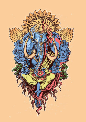 Modern Art - Ganpati Vinayak - Ganesha Painting Collection by Raghuraman
