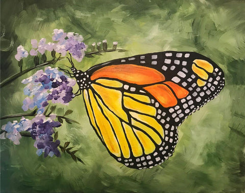 Monarch Butterfly - Contemporary Watercolor Painting