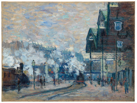 Claude Monet - Gare Saint-Lazare by Claude Monet