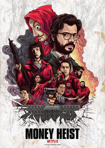Money Heist - Netflix TV Show Poster Fan Art by Tallenge Store