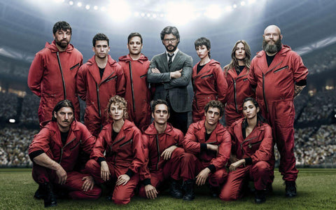 Money Heist 3 Cast - Netflix TV Show Poster Art by Tallenge Store