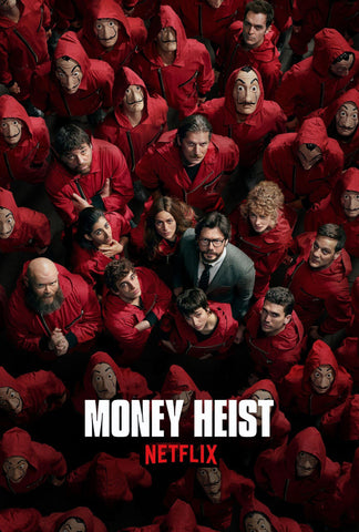 Money Heist 4 - Netflix TV Show Poster by Tallenge Store