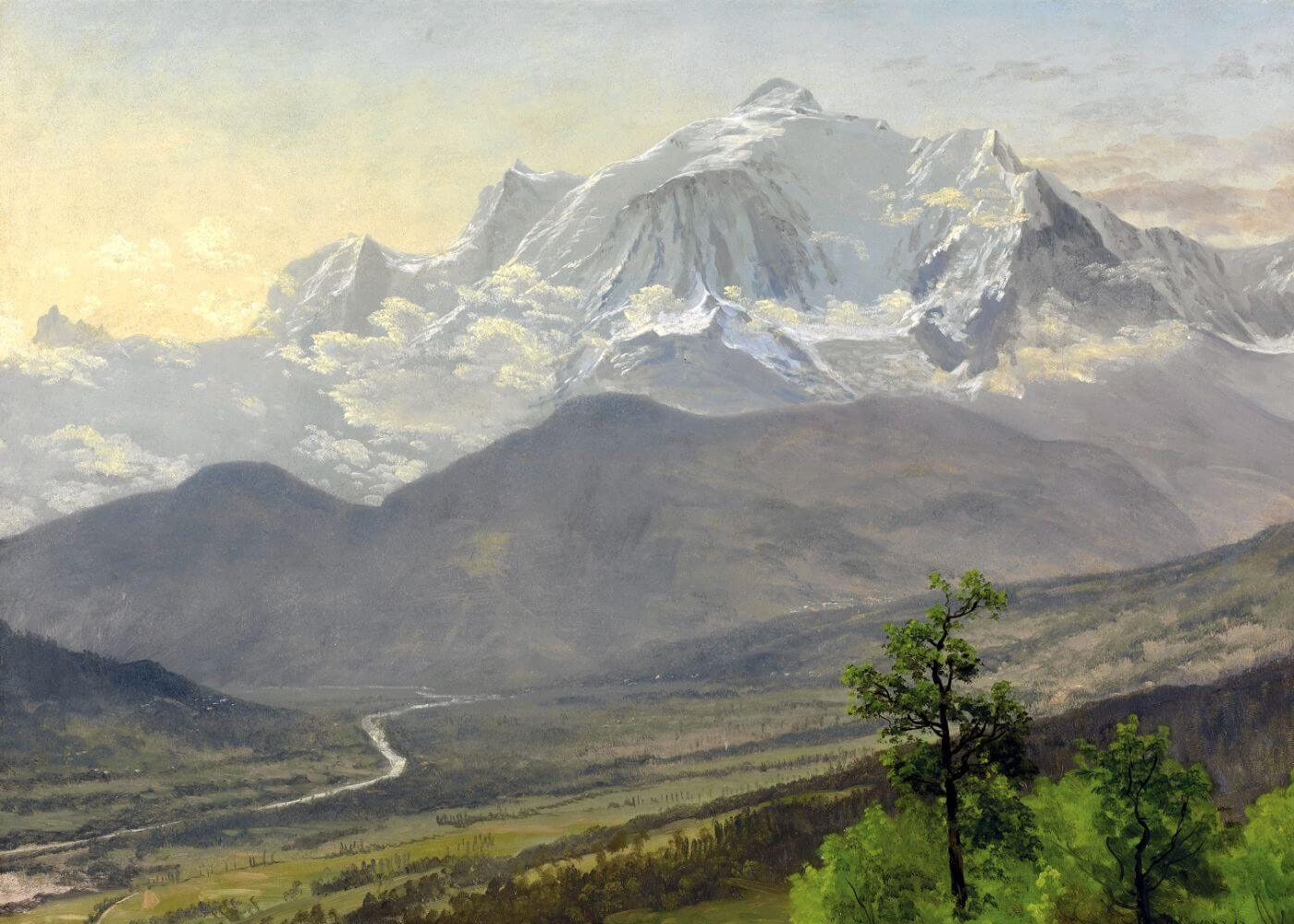 Mont Blanc (French Alps) - Albert Bierstadt - Mountains Landscape Painting