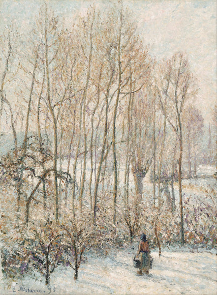 Morning Sunlight on the Snow, Eragny-sur-Epte - Canvas Prints
