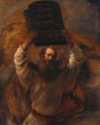 Moses with the Ten Commandments - Canvas Prints