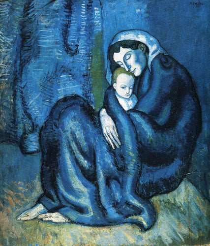 Artwork of Pablo Picasso - Mere Et Enfant  - Mother and Child by Pablo Picasso