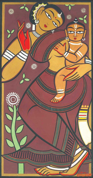 Mother And Child - Jamini Roy - Canvas Prints