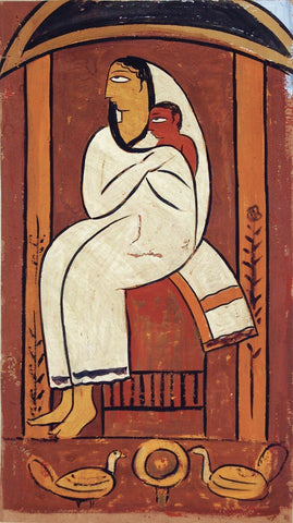 Mother and Child - II by Jamini Roy