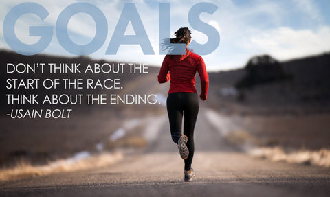 Motivational Quote by Usain Bolt: GOALS by Sherly David