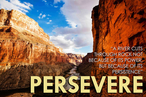 Motivational Quote: PERSEVERE by Sherly David