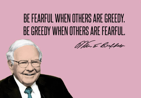Artwork of Motivational Poster - VALUE INVESTING - Be Fearful When Others Are Greedy by Roseann Jahns