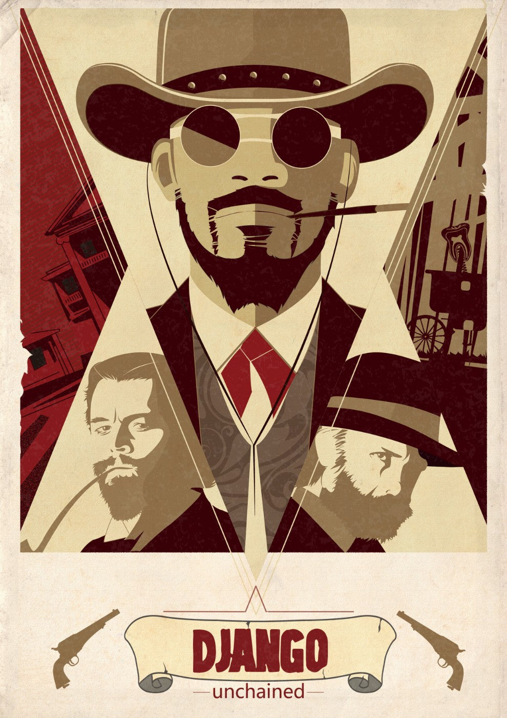 Homage poster graphic art django unchained hollywood collection large art prints