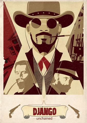 Homage Poster - Graphic Art - Django Unchained - Hollywood Collection
